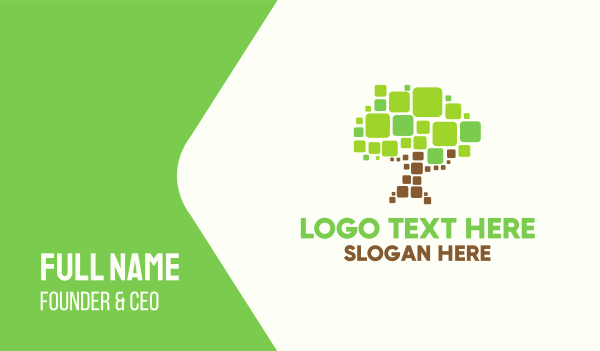 computer software - Pixel Tree Business card horizontal design