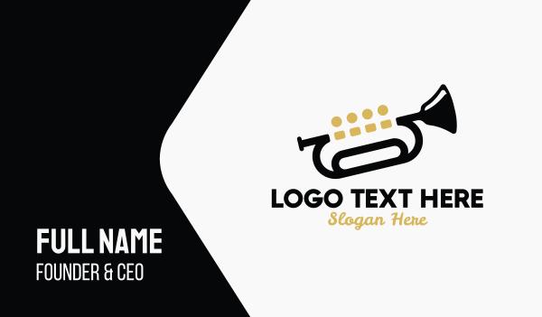 trumpet - Trumpet Music Quartet Business card horizontal design