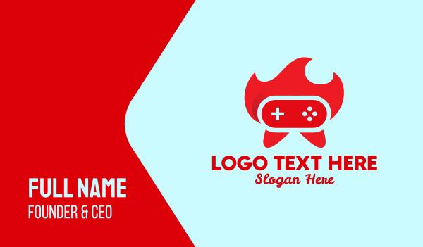 e sports - Red Hot Controller  Business card horizontal design