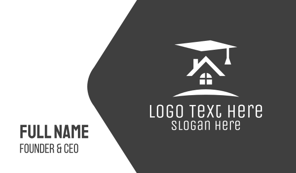 scholarship - Graduation House Realty Business card horizontal design