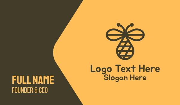 hornet - Honey Dew Business card horizontal design