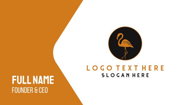 flamingo - Gold Flamingo Business card horizontal design
