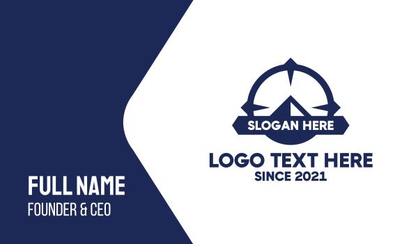 shipping service - Blue Mountain Target Business card horizontal design
