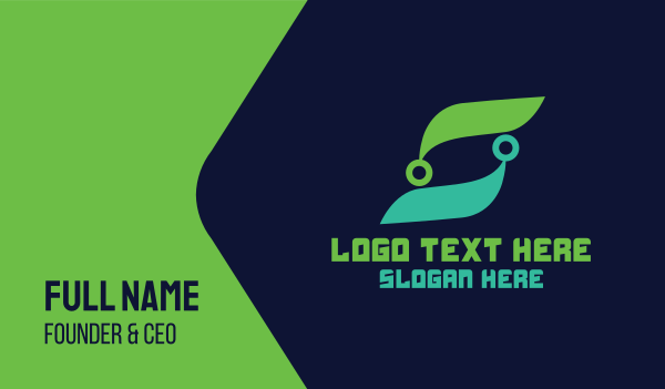 maintenance - Organic Tech Letter S Business card horizontal design