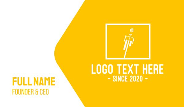white and yellow - Yellow Bike Square Business card horizontal design