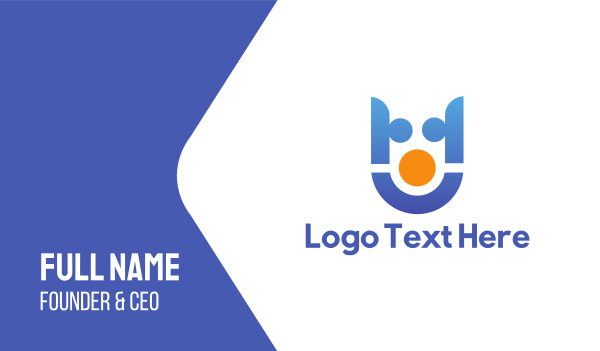 business software - Abstract Team Business card horizontal design