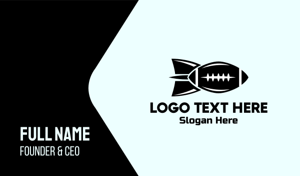 rocket - Football Bomb Business card horizontal design