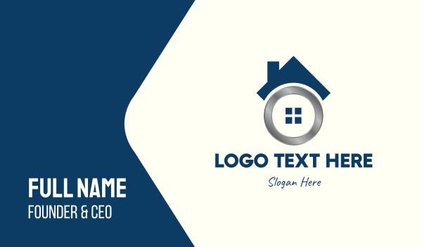 lodge - Metallic Real Estate Home Business card horizontal design
