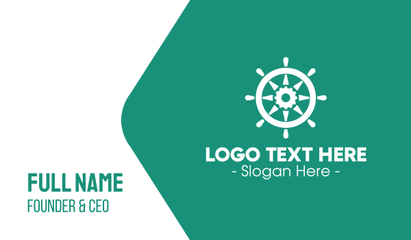helm - Boat Gear Helm Business card horizontal design