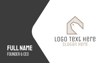 Home Sale Price Tag Business Card