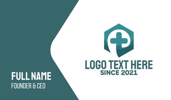 pharmacist - Medical Cross Hexagon Business card horizontal design
