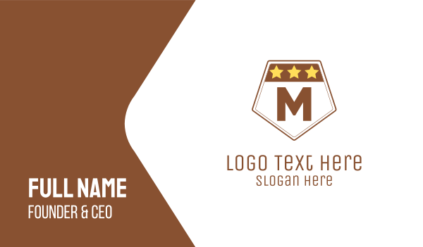 troop - Military Lettermark Business card horizontal design