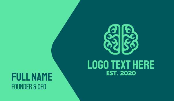 therapist - Brain Repair Business card horizontal design