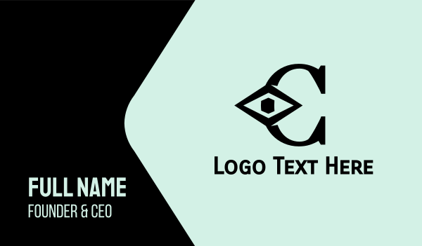 showroom - Black Diamond C Business card horizontal design