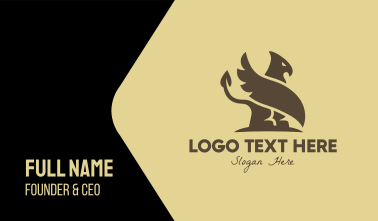 Brown Egyptian Griffin Business Card