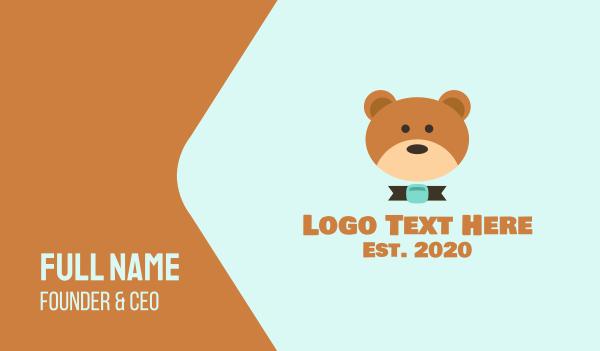adorable - Brown Teddy Bear Business card horizontal design