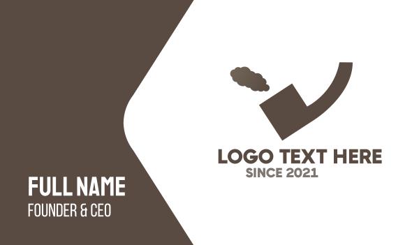 cigarette - Quote Pipe Business card horizontal design