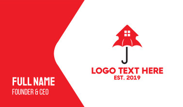Red House Umbrella Business Card