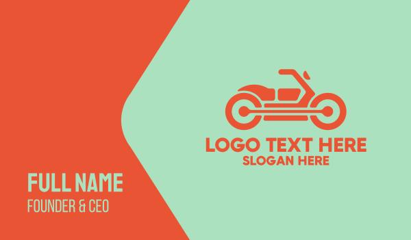 motor repair - Motor Bike Motorcycle Business card horizontal design