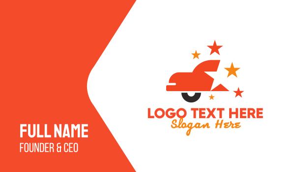 german - Shiny Red Star Car Business card horizontal design
