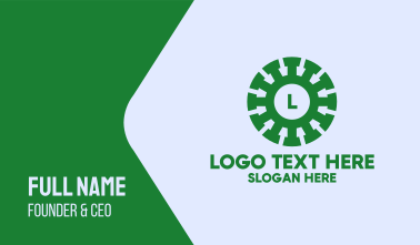 Green Viral Lettermark Business Card