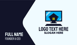 Home Personal Computer Business Card
