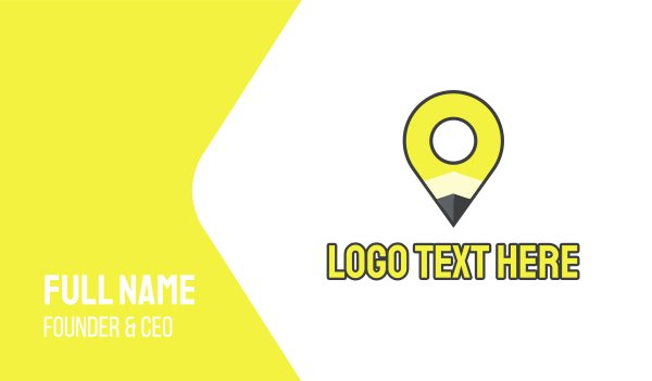 elementary - Pencil Location Place Pin Business card horizontal design