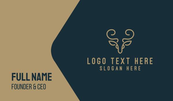 gazelle - Golden Deer Business card horizontal design
