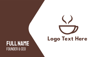 Brown Cup Coffee Business Card