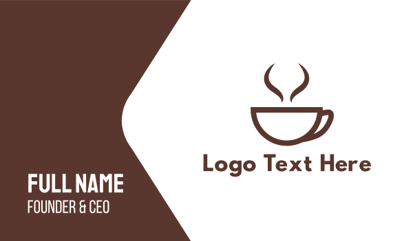 brown cup - Brown Cup Coffee Business card horizontal design