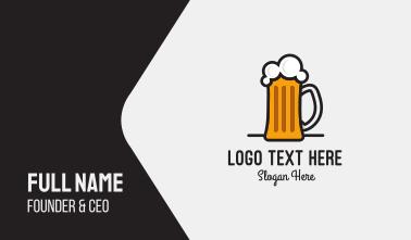 Beer Mug Business Card