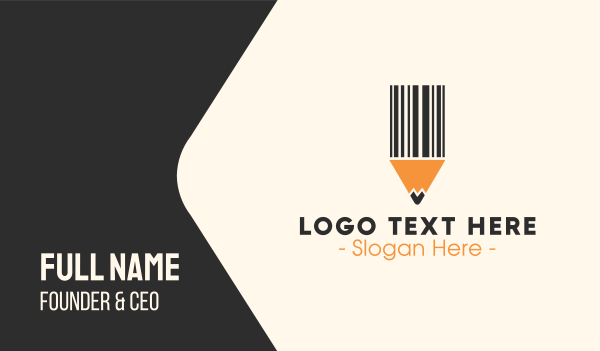 scanner - Barcode Pencil Business card horizontal design