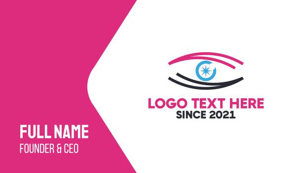 specs - Star Pink Eye Business card horizontal design