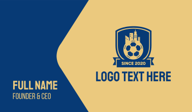 Soccer City Emblem Business Card