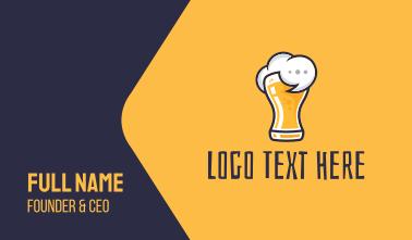 Beer Drunk Talk Business Card