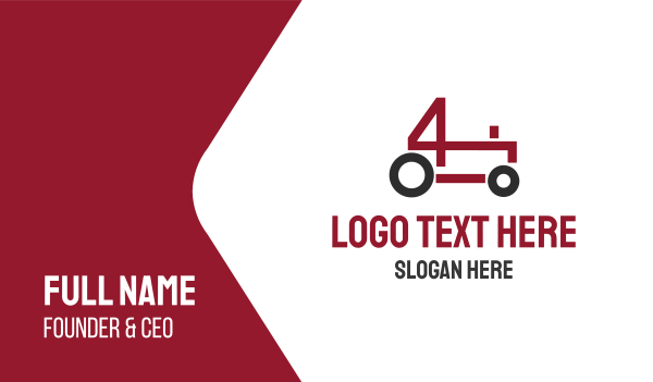 four - Tractor Business card horizontal design