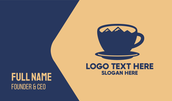 sweetener - Blue Mountain Cup Business card horizontal design