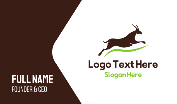 antelope - Brown Gazelle Business card horizontal design