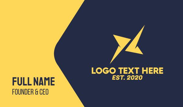 charger - Yellow Digital Spark Business card horizontal design
