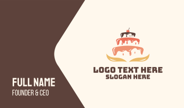 Dripping Cake Icing Business Card