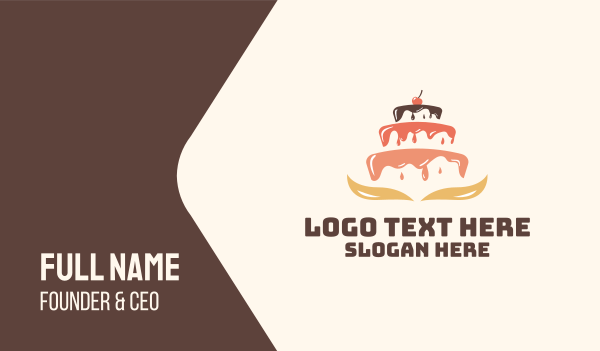 event - Dripping Cake Icing Business card horizontal design