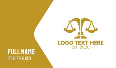 Elegant Modern Justice  Business Card
