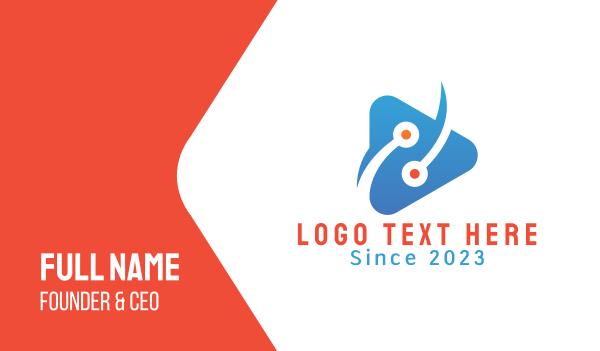 dot - Youtube Gamer Vlog Business card horizontal design