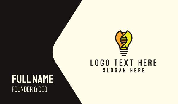 gene - DNA Lightbulb Business card horizontal design