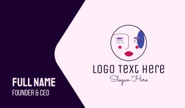Makeup Artist Face  Business Card
