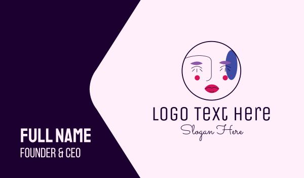 mascara - Makeup Artist Face  Business card horizontal design
