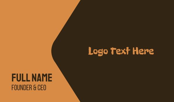 primitive - Brown Stone Age  Business card horizontal design