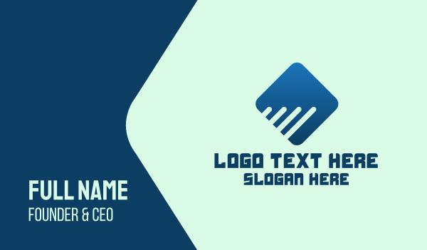 investment - Digital Corporate Diamond Business card horizontal design