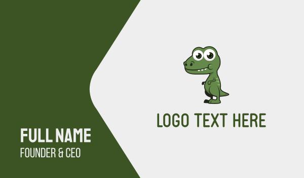 adorable - Cute Dino Business card horizontal design
