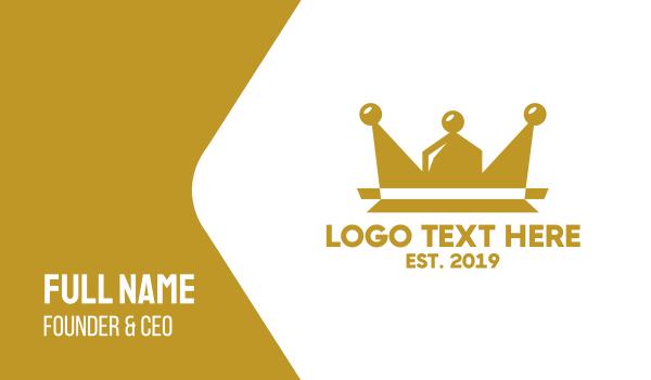 teamwork - Community Crown Business card horizontal design